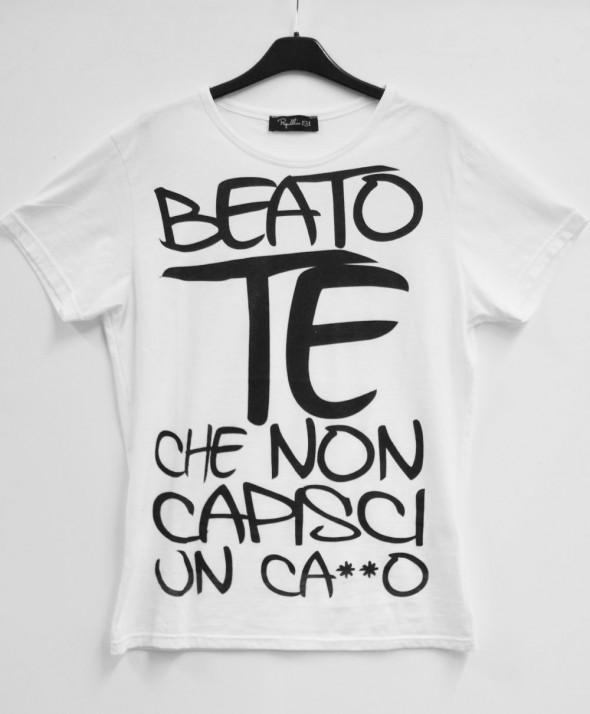 "T-Shirt Uomo ""Beato te che..."""