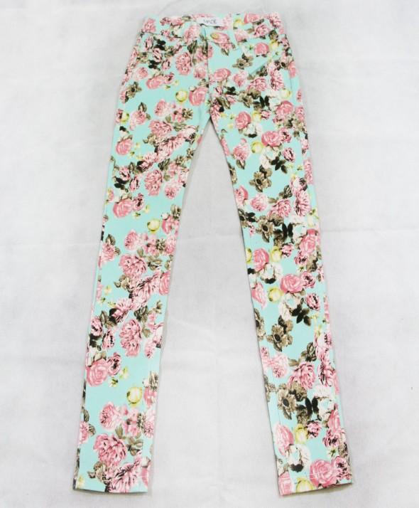 Pantalone Flower acqua
